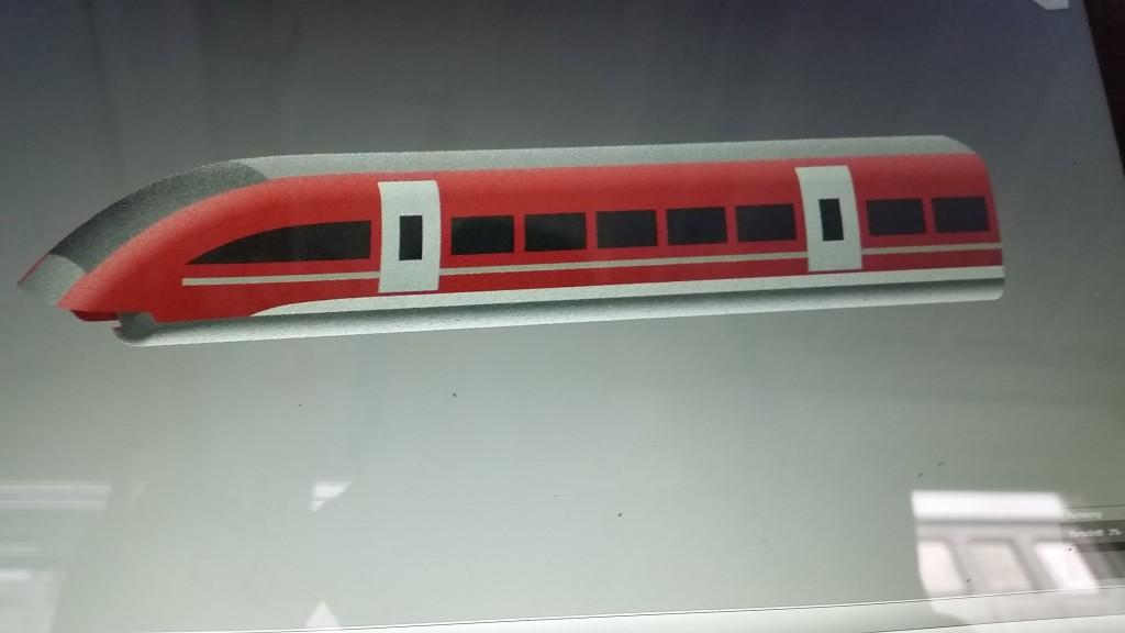 3D Modell vom Transrapid